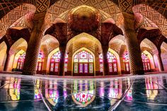 Funny pictures about The Interior Of A Mosque In Iran. Oh, and cool pics about The Interior Of A Mosque In Iran. Also, The Interior Of A Mosque In Iran photos. Art Et Architecture, Persian Architecture, Mosque Architecture, Beautiful Architecture, Vintage Architecture, Religious Architecture, Shiraz Iran, Pink Mosque, Photo D'architecture