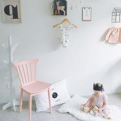 Pretty pink and white #nursery
