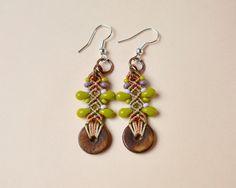 Macrame earrings bohemian earrings tribal earrings by MartaJewelry