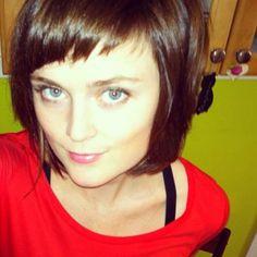 Adorable asymmetrical bangs & long bob by Natasha | Yelp