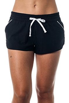 8e07bf8085 Alki'i 2-way stretch Women's swim shorts - Two Tone BlackWhite 2XL at  Amazon Women's Clothing store: