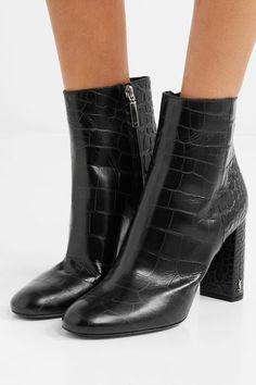 1e17369f9d8 Saint Laurent - Loulou croc-effect leather ankle boots