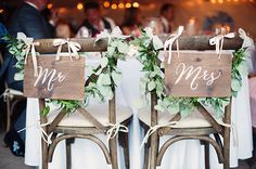 wooden Mr and Mrs signs | Melissa Gidney Photography | Glamour & Grace