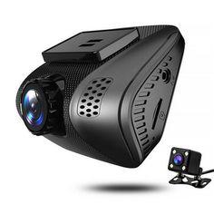 J3 1080P HD Hidden Car DVR Video Dual Lens Wifi 2 Inch Driving Recorder Night Vision