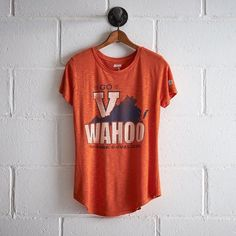Tailgate Virginia Wahoos T-Shirt (€28) ❤ liked on Polyvore featuring tops, t-shirts, orange, vintage jerseys, crew neck tee, crewneck tee, jersey t shirt and slim fit t shirts
