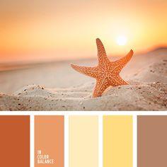 бледно-желтый, желтый, коричневый, оранжевый, оттенки коричневого, оттенки оранжевого, палитра цветов для декора, пастельный коричневый, светло-желтый, теплый желтый, теплый шоколадный, цвет песка, цвета рассвета, шоколадный цвет.