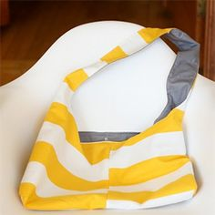 Following this really easy tutorial I made this stripey spring bag from some ikea fabric I had. (via sayyestohoboken)