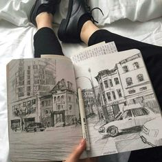 Shared by Catalina. Find images and videos about style, beauty and art on We Heart It - the app to get lost in what you love. Art Sketches, Art Drawings, Pencil Drawings, Drawn Art, Arte Sketchbook, Art Hoe, Sketchbook Inspiration, Sketchbook Ideas, Urban Sketching