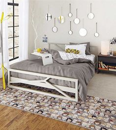 Modern Bedroom Ideas For Young S Funky Mirrors Bed Gray