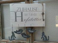Holz Türschild DIY