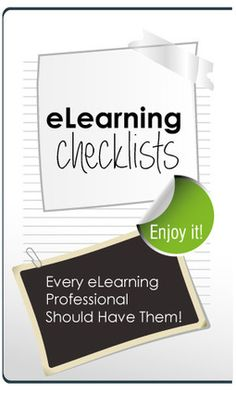 A List of Great Checklists Every eLearning Professional Should Have - eLearningFeeds.com