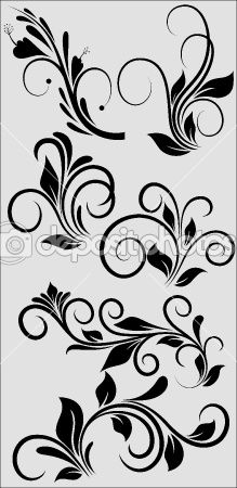 Simple rococo designs for the fan