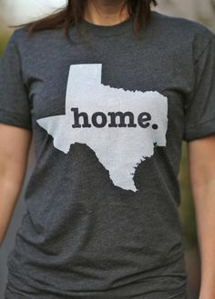 Texas Home Home T State Shirt | Bourbon & Boots