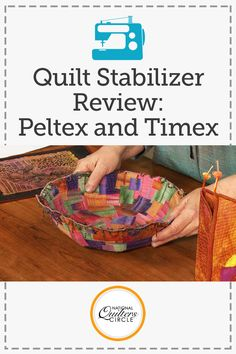 Discover how fabulously versatile these two industrial stabilizers can be for your quilting projects. Heather Thomas shows you how you can use them to create stiff, perfectly flat wall hangings and wonderful three-dimensional vessels, bowls, and more.