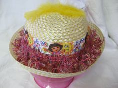 Dora The Explorer Easter Hat With Boa Flowers And by CuddleBugBaby, $12.00