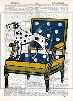 Dog Art Print Dictionary page print dalmatian print kids room decor nursery wall art mid century chair art quirky dog art print no 194 by quiveringbeeprints on Etsy https://www.etsy.com/listing/549026399/dog-art-print-dictionary-page-print