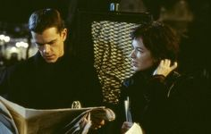 Still of Matt Damon and Franka Potente in The Bourne Identity (2002)