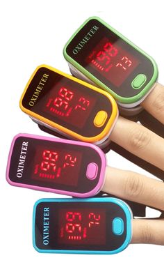 This portable pulse oximeter helps users keep an eye on oxygen saturation of hemoglobin, as well as heartbeats per minute