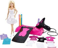 Barbie Airbrush Designer And Doll Playset Create Your Own Fashion Styles #Unbranded