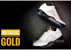 "http://www.jordannew.com/2017-mens-air-jordan-5-low-white-metallic-gold-for-sale-free-shipping.html 2017 MENS AIR JORDAN 5 LOW ""WHITE/METALLIC GOLD"" FOR SALE FREE SHIPPING Only $93.00 , Free Shipping!"
