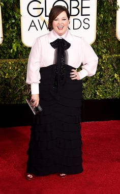 Melissa McCarthy rocks some ruffles on the 2015 Golden Globes red carpet!