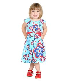 Love this Blue Alex Dress - Infant, Toddler & Girls by Jelly the Pug on #zulily! #zulilyfinds