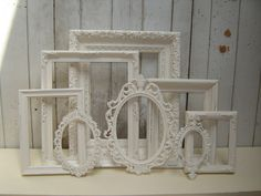 "White picture frames. @ Barb""""""I think I might go with all fancy White frames instead of the Gold"""""""