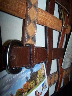 Belted Inspiration Lots of Repurposed Leather Belt Ideas http://bec4-beyondthepicketfence.blogspot.com/2011/02/belted-inspiration.html