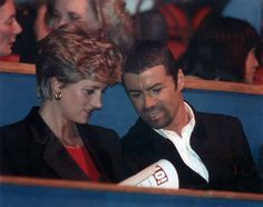 Princess Diana with George Michael