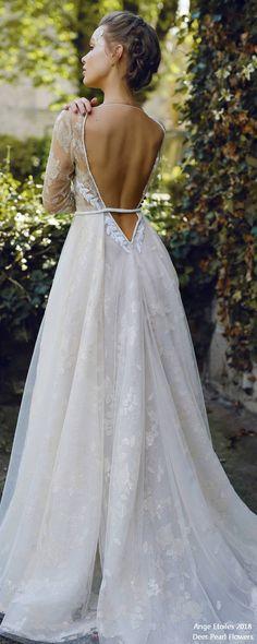 ILAYN long sleeved wedding dress 2 ❤️ http://www.deerpearlflowers.com/ange-etoiles-2018-wedding-dresses/ #bridaldress #dress #weddingdress