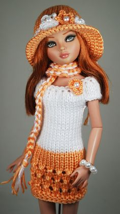 Made this crochet Barbie jacket - Ciro KS Knitting Dolls Clothes, Crochet Barbie Clothes, Doll Clothes Barbie, Knitted Dolls, Barbie Wardrobe, Barbie Outfits, Barbie Dress, Crochet Barbie Patterns, Barbie Clothes Patterns