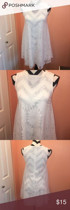 NWOT White Dress New condition, never have been worn                                                                                      Bin C Forever 21 Dresses Mini