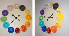 L'ora... del caffè: un orologio da parete con tazzine - Cose di Casa
