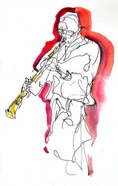 Shellie Mitchell, musician, soprano saxophone by C R Carter, via Flickr