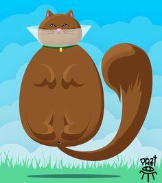 MOUCHI ! #przt #parazitte #art #illustration #cat #ecollar #collerette #cute #chat Illustration Cat, Digital Illustration, Illustrations, Catio, My Friend, Photoshop, Art, My Boyfriend, Kunst