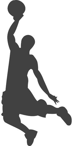 Silhouette, Basketball, Player
