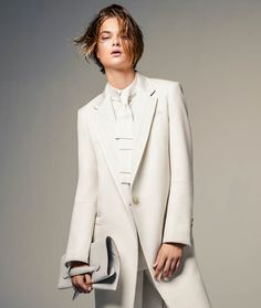 Washed Out – White is the color of the season for this fashion spread featured in the November issue of Vogue Brazil. Model Bo Don poses for Jacques Dequeker in a wardrobe of androgynous looks ranging from slouchy trousers to cropped sweaters in the studio snaps. Pedro Sales styled Bo while Max Weber worked on …