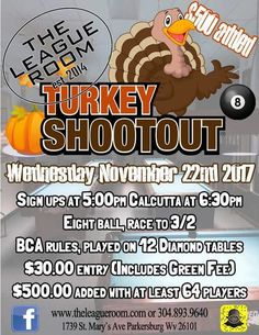 Happy Thanksgiving! Looking for local events this weekend? http://flyers.goplaypool.com/  #9ball #8ball #10ball #usflyers #tournaments #pool #goplaypool #havefun #turkey #happythanksgiving