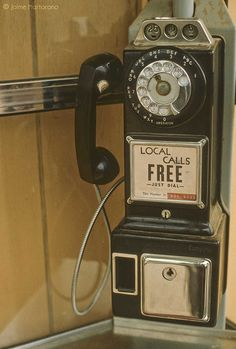 Mind blown. A rotary dial pay phone.
