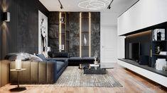 minoti on Behance Condo Interior Design, Furniture Design, Room Interior, Modern Interior, Home Living Room, Living Room Designs, Luxury Living, Modern Living, Decoration