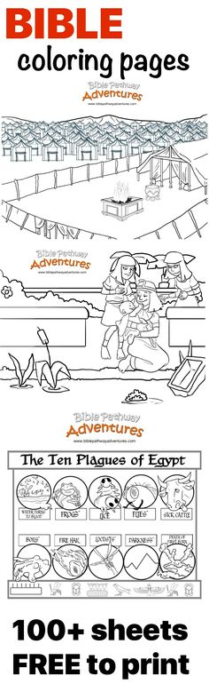 100+ bible-based coloring pages and worksheets. FREE bible printables to…