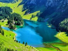 Places In Switzerland, Fjord, Seen, Places To Travel, Golf Courses, Coast, Hiking, Mountain, River