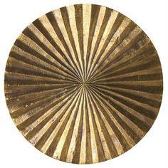 The Sunburst Brass Wall Décor at DwellStudio.