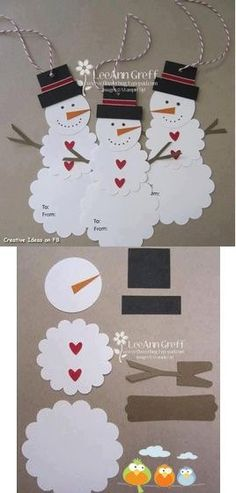 # snowman + gingerbread man # anak2 yg bikin ukurannya sekitar a4/hvs. bentuknya ga perlu persis, bole cari referensi laen, pokonya be creative :) . seorang bikin 3-5pcs.  dikumpulin sebelum hari H buat dipasangin tali, tar digantung2 di tembok, depan pintu garasi, dll.