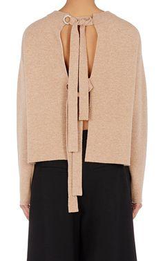 Proenza Schouler Tie-Back Sweater