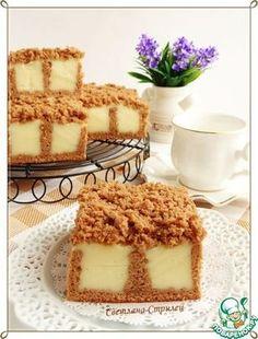 Бисквит с ванильным пудингом - кулинарный рецепт
