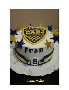 Boca Juniors Cake #futbolbocajuniors 10th Birthday, Frozen, Cakes, Gifts, Pony, Horse Cake, Male Birthday Cakes, Pancakes, Sport Cakes