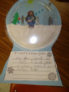 Tori's Teacher Tips: Snow Globes  Could also use clear plastic bowls and epsom salt
