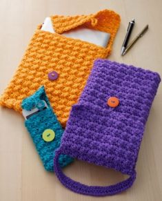 ergahandmade: Crochet Cell Phone or Tablet Cozy + Free Pattern