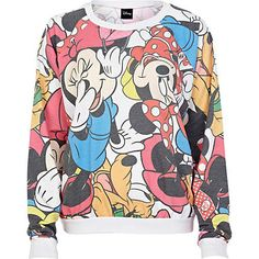 White Minnie Mouse Disney print sweatshirt - sweaters / hoodies - t shirts / vests / sweats - women